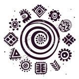 Abstrakcjonistyczny plemienny wzór Zdjęcie Royalty Free