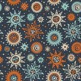 Abstrakcjonistycznego słońca plemienny wzór Obraz Royalty Free