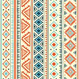 Abstrakcjonistyczny plemienny wzór Zdjęcia Royalty Free