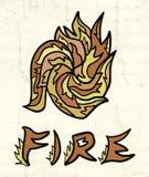 abstrakcjonistyczny pożarniczy symbol Fotografia Stock
