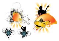 abstrakcjonistyczny podkład muzyczny Obraz Stock