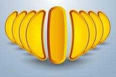 Abstrakcjonistyczny pojęcie banan lubi formację royalty ilustracja