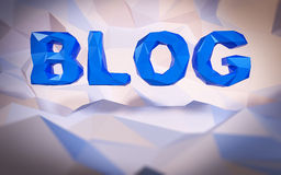 Abstrakcjonistyczny poli- tło Słowa pojęcie 3d blogu ilustracyjny sfer tekst Zdjęcie Royalty Free