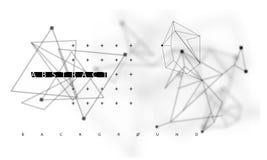 Abstrakcjonistyczny poligonalny astronautyczny niski poli- ciemny tło royalty ilustracja