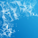 Abstrakcjonistyczny poligonalny astronautyczny tło Royalty Ilustracja