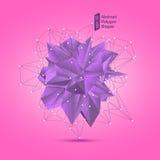 Abstrakcjonistyczny poligonalny geometryczny kształt Zdjęcie Royalty Free