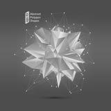 Abstrakcjonistyczny poligonalny geometryczny kształt Zdjęcia Royalty Free