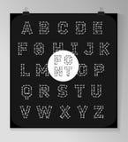 Abstrakcjonistyczny poligonalny list w Pozaziemskim stylu Obraz Stock
