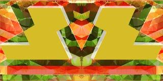 Abstrakcjonistyczny poligonalny lustrzany tło trójboki z przestrzennymi panel Obrazy Stock