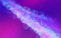 Abstrakcjonistyczny poligonalny tło błękit, purpura -/ ilustracji