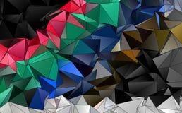 Abstrakcjonistyczny poligonalny tło Obrazy Royalty Free