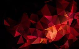 Abstrakcjonistyczny poligonalny zmrok - czerwony geometryczny tło depresja poli- ilustracja wektor