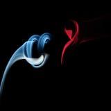Abstrakcjonistyczny polotny papierosu dymu kształt na czerni Obrazy Royalty Free