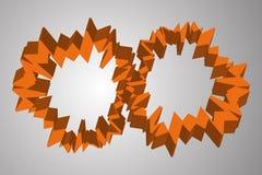 Abstrakcjonistyczny pomarańczowy cogwheel jak okręgi ilustracji