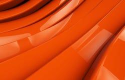 Abstrakcjonistyczny pomarańczowy glansowany metalu tło Zdjęcia Royalty Free