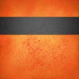 Abstrakcjonistyczny pomarańczowy Halloween tła szablon z czernią textured lampas lub faborek Obrazy Royalty Free