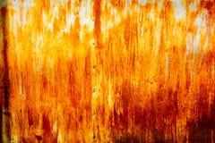 Abstrakcjonistyczny pomarańczowy ośniedziały cynk jako tekstura Fotografia Royalty Free