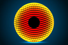 Abstrakcjonistyczny pomarańczowy okrąg Zdjęcie Stock
