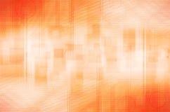 Abstrakcjonistyczny pomarańczowy okręgu i kwadrata tło ilustracja wektor