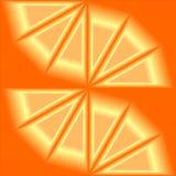 Abstrakcjonistyczny pomarańczowy tło w 3d Obraz Royalty Free