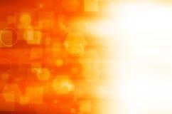 Abstrakcjonistyczny Pomarańczowy technologii tło ilustracji