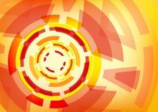 Abstrakcjonistyczny pomarańcze i rewolucjonistki tło Fotografia Stock
