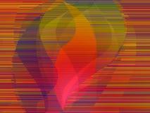 abstrakcjonistyczny płomień Zdjęcia Royalty Free