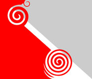 abstrakcjonistyczny popielaty czerwony biel Obrazy Stock