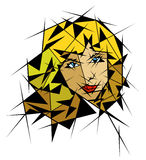 Abstrakcjonistyczny portret dziewczyna Zdjęcia Stock
