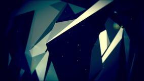 Abstrakcjonistyczny poruszający plexus z kropkami i wielobokami rusza się w 3d przestrzeni ilustracja wektor