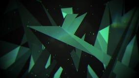Abstrakcjonistyczny poruszający plexus z kropkami i wielobokami rusza się w 3d przestrzeni royalty ilustracja