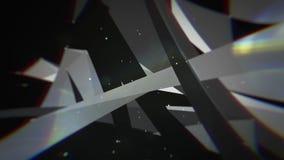 Abstrakcjonistyczny poruszający plexus z kropkami i wielobokami rusza się w 3d przestrzeni ilustracji