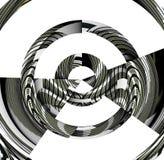 Abstrakcjonistyczny posrebrzony tło i projekt Obraz Stock