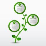 Abstrakcjonistyczny postępu eco zieleni szablon Fotografia Stock