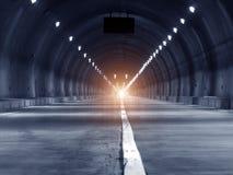 Abstrakcjonistyczny prędkości ruch w miastowym autostrady drogi tunelu Fotografia Stock