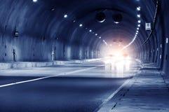 Abstrakcjonistyczny prędkości ruch w miastowym autostrady drogi tunelu Obraz Stock
