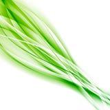 Abstrakcjonistyczny prędkości zieleni eco swoosh tło Obrazy Royalty Free