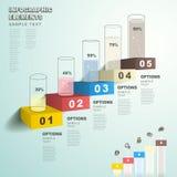 Abstrakcjonistyczny prętowej mapy infographics royalty ilustracja