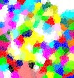 Abstrakcjonistyczny projekt w kolorowych odcieniach Obrazy Stock
