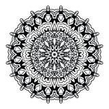 Abstrakcjonistyczny projekta czerni bielu element Round mandala w wektorze Graficzny szablon dla twój projekta Kurenda wzór Zdjęcia Stock