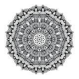Abstrakcjonistyczny projekta czerni bielu element Round mandala w wektorze Graficzny szablon dla twój projekta Kurenda wzór Obrazy Stock