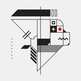 Abstrakcjonistyczny projekta element w konstruktywizmu stylu ilustracji