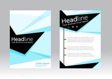 Abstrakcjonistyczny projekta szablon dla broszurki ulotki Fotografia Stock
