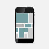 Abstrakcjonistyczny projekta telefon komórkowy. Wektorowa ilustracja Fotografia Stock