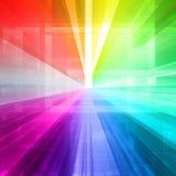 Abstrakcjonistyczny promienia światło Obrazy Royalty Free