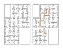 Abstrakcjonistyczny prostokątny labirynt gemowi dzieciaki Łamigłówka dla dzieci Labitynt zagadka Płaska wektorowa ilustracja odiz ilustracja wektor