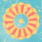 Abstrakcjonistyczny prostokąta wzór Fotografia Royalty Free