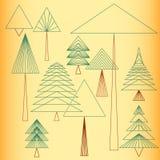 Abstrakcjonistyczny Prosty drzewo Zdjęcie Royalty Free