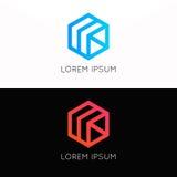 Abstrakcjonistyczny prosty sześcianu loga znaka firmy ikony symbol Fotografia Royalty Free