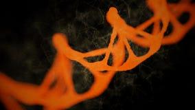 Abstrakcjonistyczny przedstawicielstwo cyfrowa binarna wieloboka plexus DNA molekuła royalty ilustracja